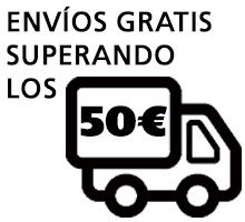Envíos gratis en pedidos superiores a 50€